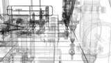Tubature, riscaldamento, compressori, bim, progetto - 69821423