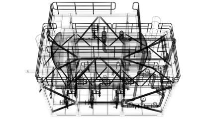 Tubature, riscaldamento, compressori, bim, progetto