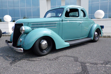 Blue 1940s Traditional Hot Rod