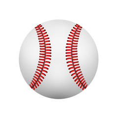 illustration of realistic baseball leather ball. Isolated on wh