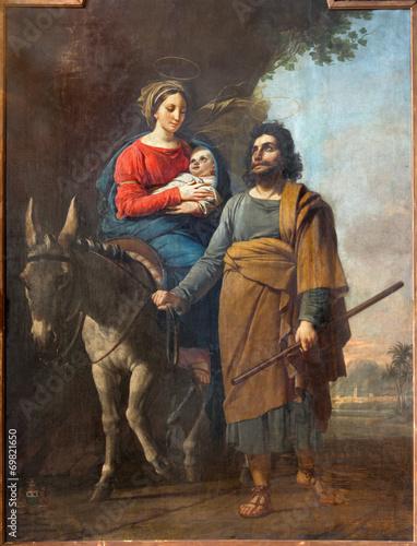 Mechelen - Paint of Fly to Egypt  in st. Katharine church
