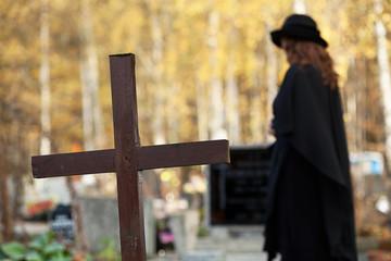 Widow suffering