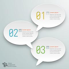 Infographics Background Speech Balloon #3-Step