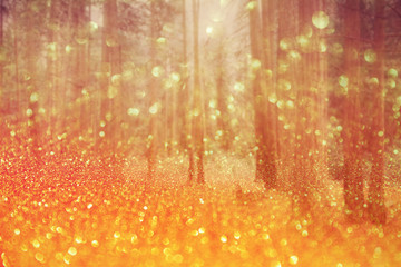 Magical dreamy bokeh background