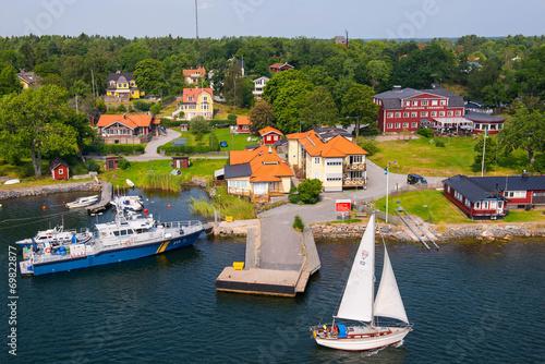 canvas print picture Segelboot am Wasser