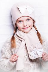 осенняя детская шапка, шарф