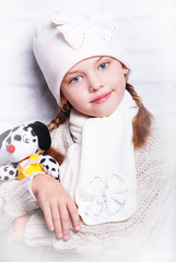 ребенок, игрушка, шапочка