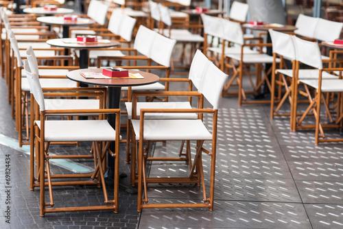 In de dag Buffet, Bar Tavoli e sedie in legno da esterno