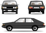 Polonez fso car grey