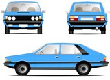 Polonez fso car blue