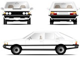 Polonez fso car white