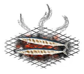 秋刀魚の炭火焼 Ver.2