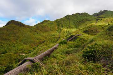 mountain with ruin in jinguashi, Taipei, Taiwan