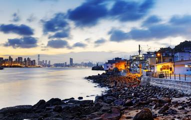 Sunset in Hong Kong fishing valley