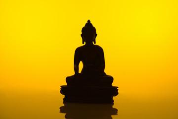 Buddha Silhouette inYellow