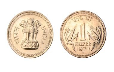 India 1970 1 Rupee coin