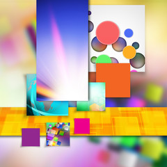 Squares on abstract background