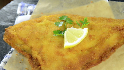 Fried Plaice (loopable video)