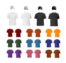 T0shirt and baseball cap templates