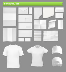 paper sheets and clothes templates set