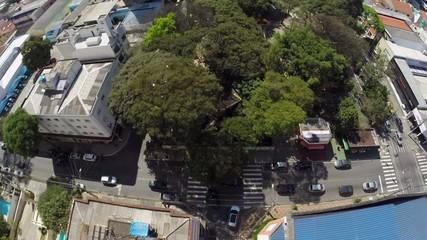 Aerial view of Bom Parto Square in Sao Paulo, Brazil