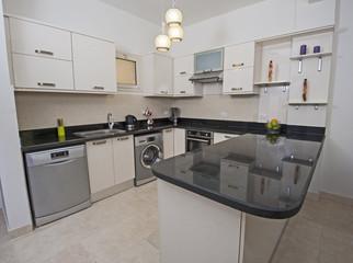 Kitchen area in luxury apartment