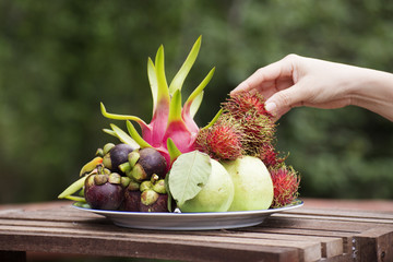 Tropical Fruit on the Plate
