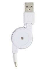 USB Cable Plug isolated on White Background