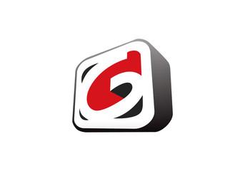 3D letter G business vector logo