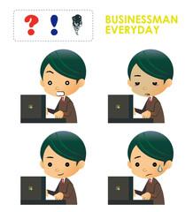 ビジネスマン 表情集