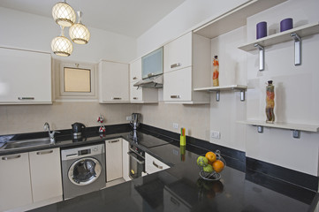 Kitchen area in luxury apartment