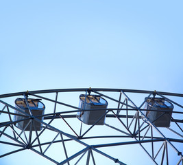 Closeup of steel ferris wheel