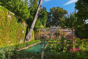 Alhambra palace at Granada Spain