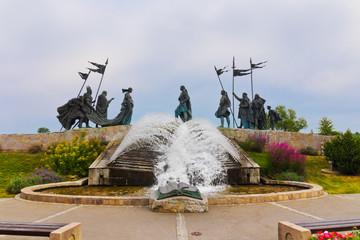 The Nibelungen Fountain at Tulln Austria