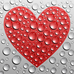 Water drops heart