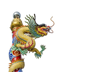 Chinese dragon on the ploe