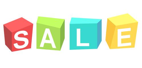 Sale Cubes banner
