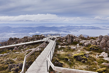 Tasmania Horbart Mt Wellington Lookout