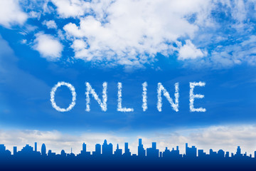 online text on cloud