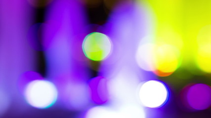 Defocused night  lights