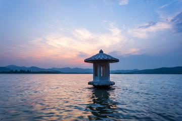 waterscape of lake at twillight,china
