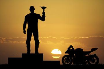 rider on the podium