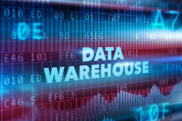 Data warehouse technology concept