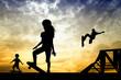 skateboarder silhouetteat sunset