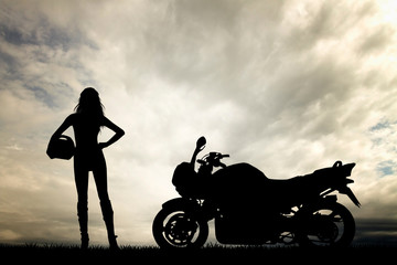 woman motorcyclist