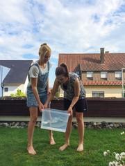Vorbereitung zur Ice Bucket Challenge
