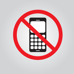 No call phone sign. vector EPS 10