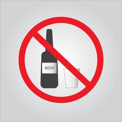 No alcohol sign. vector EPS 10