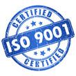 Iso 9001 certified stamp