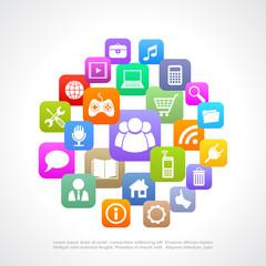 Media icons cloud